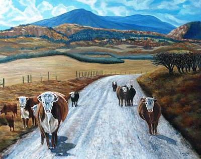La Veta Painting - Colorado Welcoming Committee by Cynthia Young