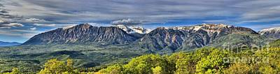 Photograph - Colorado West Elk Mountain Panorama by Adam Jewell