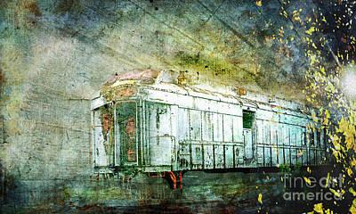 Digital Art - Colorado White Train In Autumn by Deborah Nakano