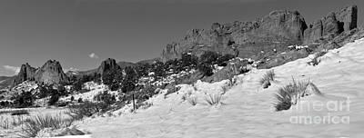 Photograph - Colorado Winter Rock Garden Black And White by Adam Jewell