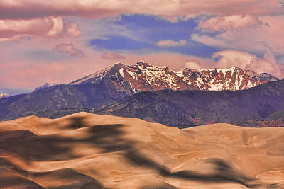 Colorado's Great Sand Dunes Shadow Of The Clouds Art Print