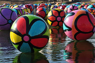 Photograph - Colored Balls by Joe  Burns