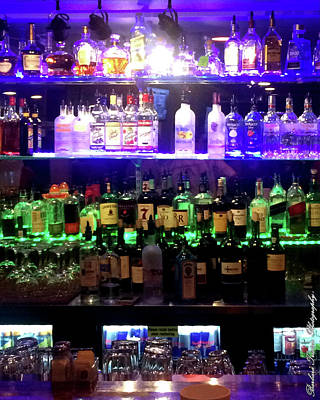 Photograph - Colored Bar Bottles Traditional Photo #0628 by Barbara Tristan