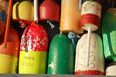 Photograph - Colored Buoys by Lucia Vicari