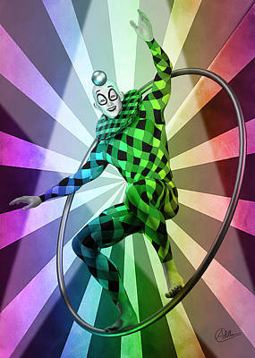 Jester Digital Art - Colored Circus  by Quim Abella