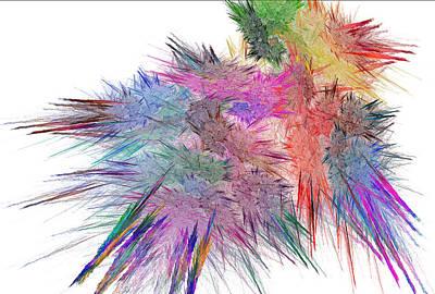 Digital Art - Colored Cluster by Dwayne Jahn