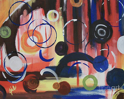Abstract Handbag Painting - Colored Commotion by Jilian Cramb - AMothersFineArt