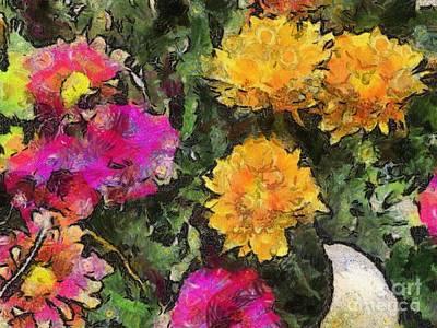 Colored Flowers Art Print