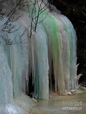 Photograph - Colored Frozen Waterfalls Alont The Skeena  by Anne Havard