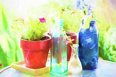 Painting - Colored Glass by Bonnie Bruno