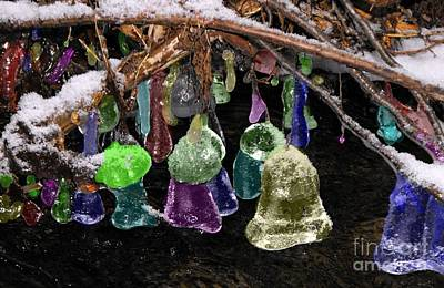 Colored Ice Bells Art Print