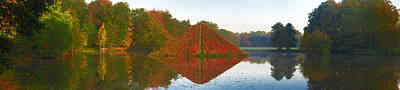 Photograph - Colored Lake Pyramid by Sun Travels