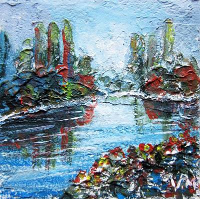 Mixed Media - Colored Lake by Vesna Martinjak