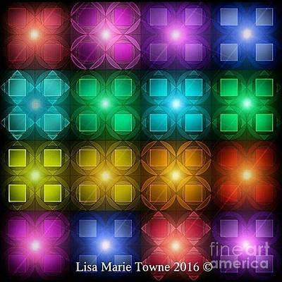 Wall Art - Digital Art - Colored Lights by Lisa Marie Towne