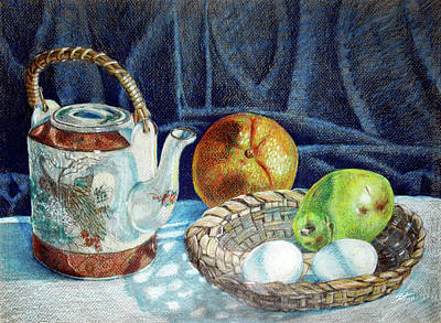 Colored Pencil Still Life No2 Art Print by Stephen Boyle