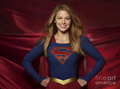Photograph - Colored Pencil Study Of Supergirl - Melissa Benoist by Doc Braham