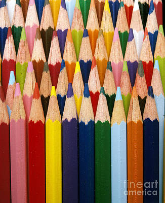 Colored Pencils Art Print by Gerard Lacz