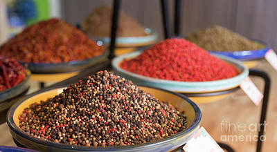 Photograph - Colored Pepper In Spice Shop by Compuinfoto