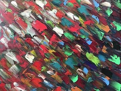 Colored Rain. Art Print