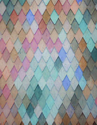 Painting - Colored Roof Tiles - Painting by Ericamaxine Price