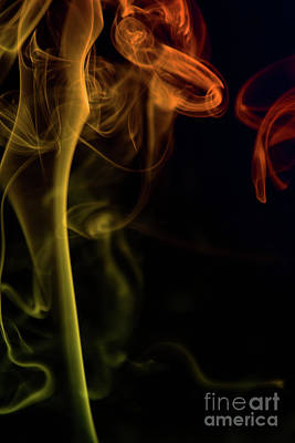 Photograph - Colored Smoke by Diana Jo Marmont