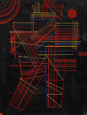 Geometry Painting - Colored Sticks by Wassily Kandinsky