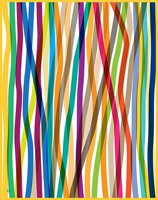 Digital Art - Colored Stripes 3 by Gary Grayson