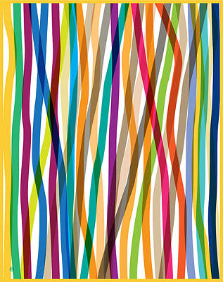 Modern Painting - Colored Stripes by Gary Grayson