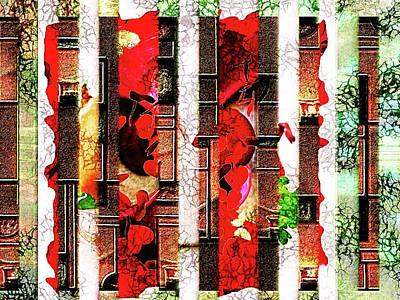Mixed Media - Colored Windows by Paula Ayers