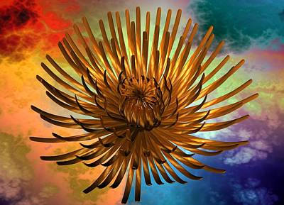 Digital Art - Colorful Abstract Flower by Louis Ferreira