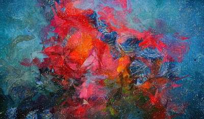 Mixed Media - Colorful Abstract Flowers Art - Deepest Love by Wall Art Prints