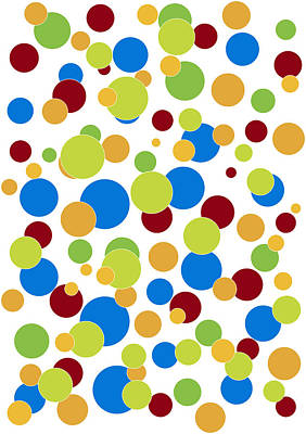 Dot Painting - Colorful Abstract by Frank Tschakert