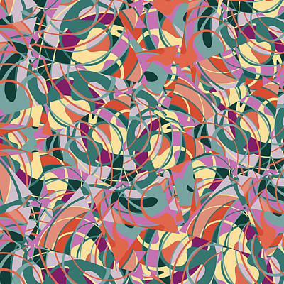 Mixed Media - Colorful Abstract  by Gravityx9 Designs