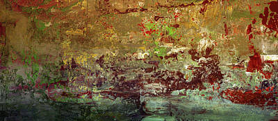 Painting - Colorful Abstract Landscape Painting - A Fishing Village by Wall Art Prints