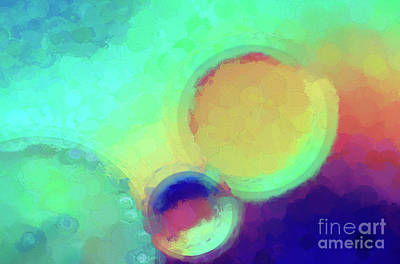 Abstract Digital Photograph - Colorful Abstract Painting by Darren Fisher