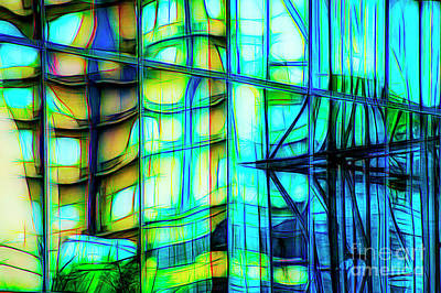Photograph - Colorful Abstract Reflection by Frances Ann Hattier