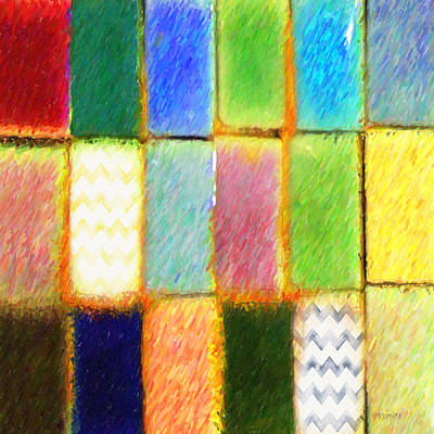 Digital Art - Colorful Abstract Squares by Rebecca Korpita