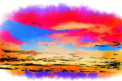 Digital Art - Colorful Abstract Sunset by Kirt Tisdale