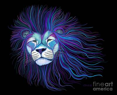 Digital Art - Colorful African Lion by Nick Gustafson