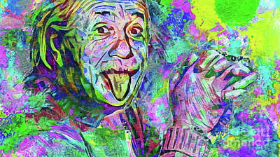 Einstein Photograph - Colorful Albert by Jon Neidert