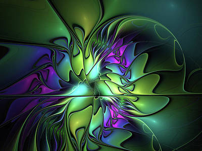 Digital Art - Colorful And Abstract Fractal Fantasy by Gabiw Art