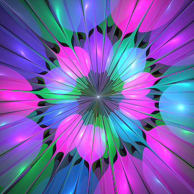 Fluorescence Digital Art - Colorful And Lumious by Gabiw Art