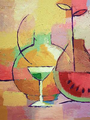 Painting - Colorful Aperitif by Lutz Baar