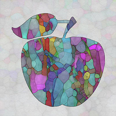 Painting - Colorful Apple by Jack Zulli
