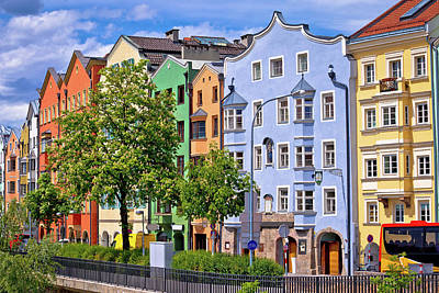 Photograph - Colorful Architecture Od Innsbruck Riverfront View by Brch Photography