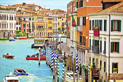 Photograph - Colorful Architecture Of Venezia Canal Grande by Brch Photography