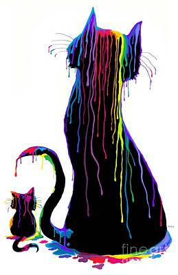 Digital Art - Colorful Artistic Cats by Nick Gustafson