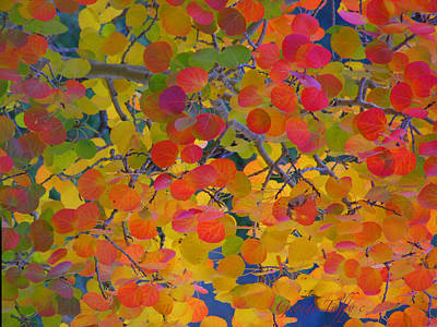 Colorful Aspen Art Print