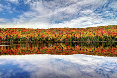 Photograph - Colorful Autumn Reflection by Pierre Leclerc Photography