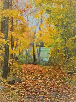 Pathway Mixed Media - Colorful Autumn Trail by Dan Sproul